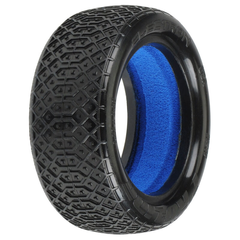 """1/10 Electron 2.2"""" 4WD Off-Road Buggy Front Tires with Closed Cell Foam Inserts, MC - Clay  (2)"""