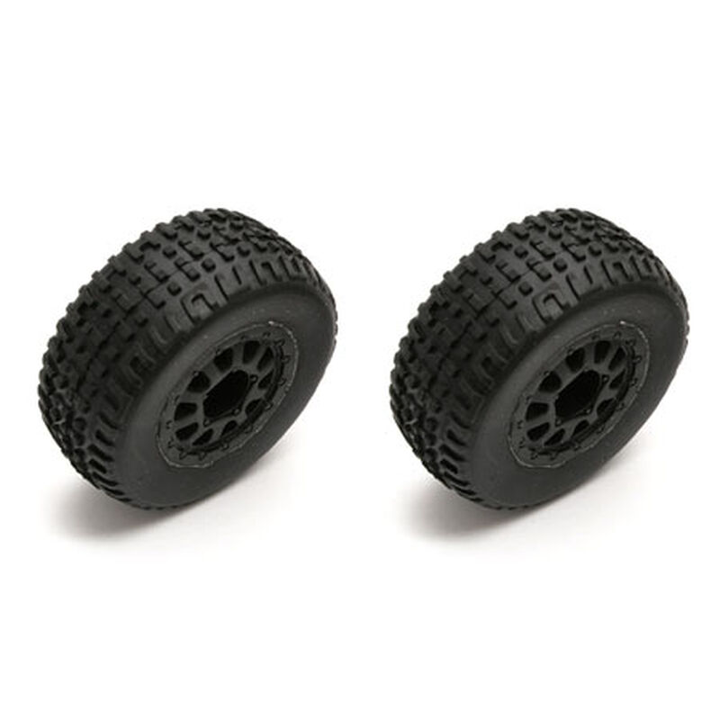 1/18 Front/Rear Pre-Mounted Tires (2): SC18