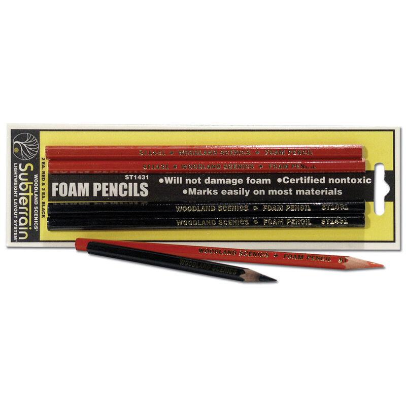 Foam Markers, Red/Black (2 each)