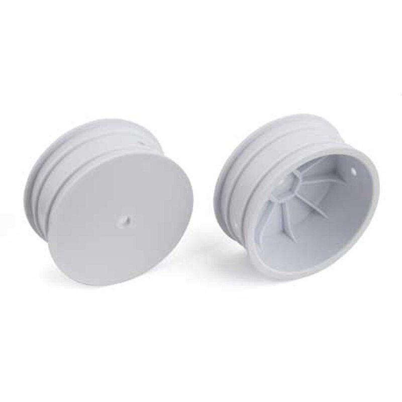 1/10 12mm Front Wheels 2.2, White (2): B64, B64D