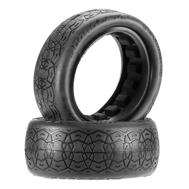 Octagons 2.2 4WD Buggy Front Tire, Black (2)
