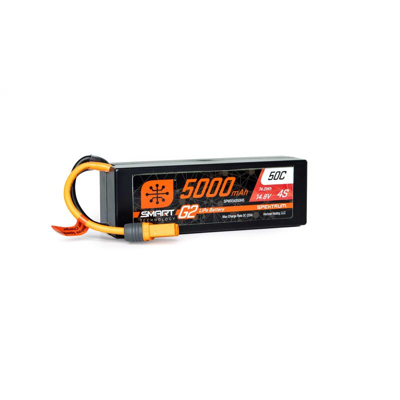 14.8V 5000mAh 4S 50C Smart G2 Hardcase LiPo Battery: IC5
