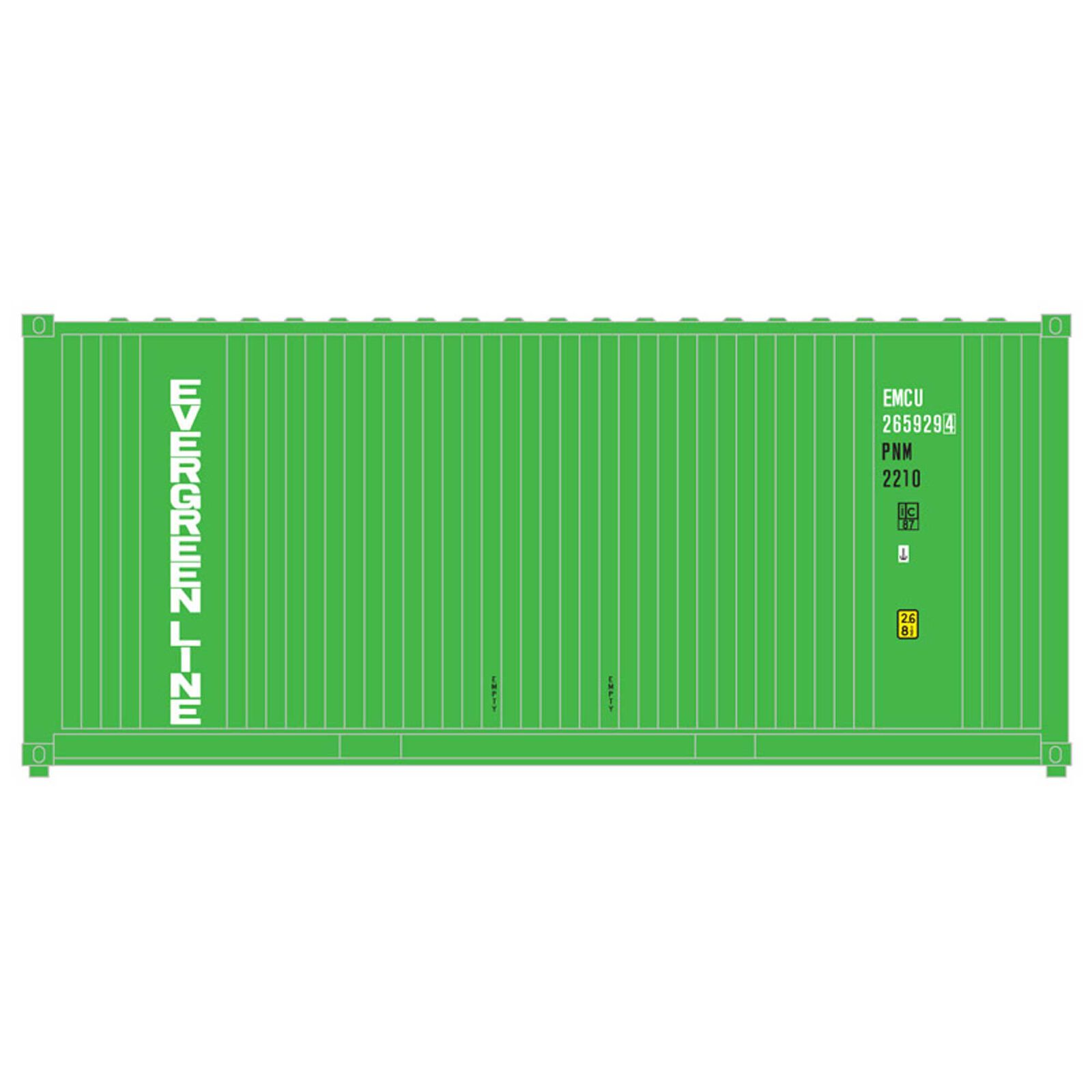 O Trainman 20' Container Evergreen (2)