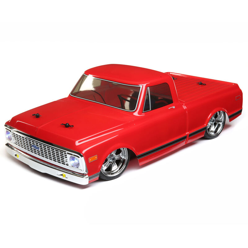 1/10 1972 Chevy C10 Pickup Truck V-100 S 4WD Brushed RTR, Red