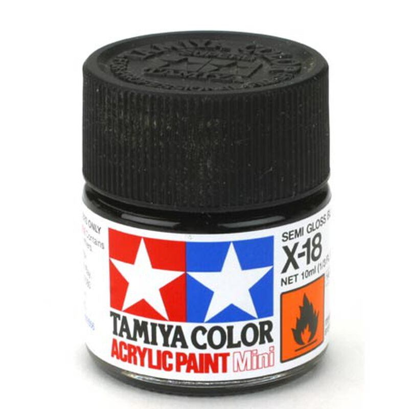 Acrylic Mini X18, Semi Gloss Black