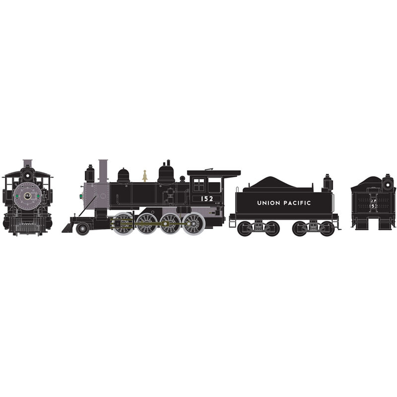 HO RTR Old Time 2-8-0 with DCC & Sound UP #152