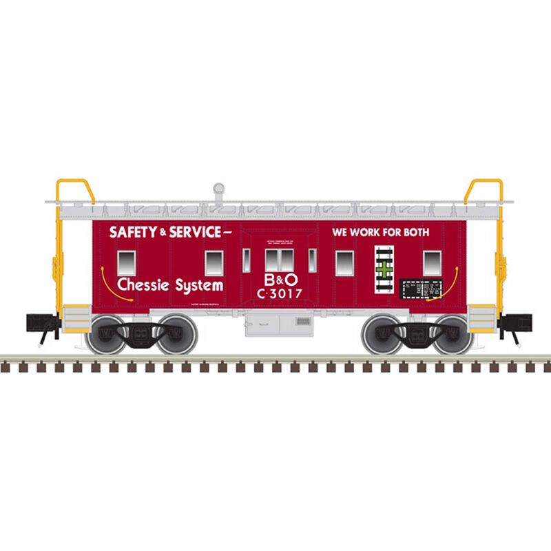 O Bay Window Caboose Chessie System* C-3017
