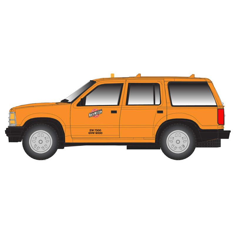 N Ford Explorer Chicago & North Western, Yellow/Red
