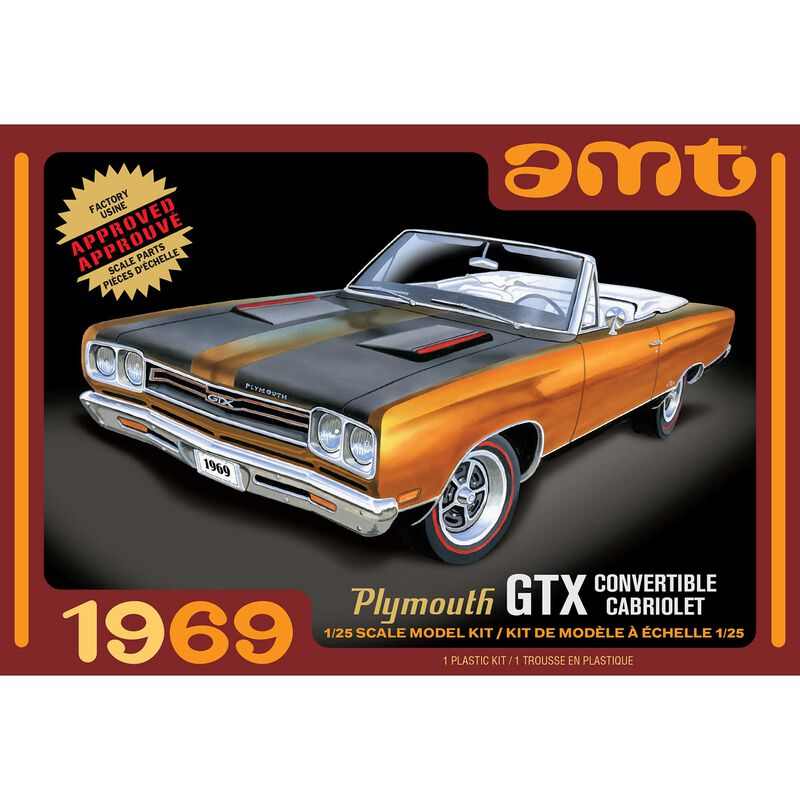 1/25 1969 Plymouth GTX Convertible 2T