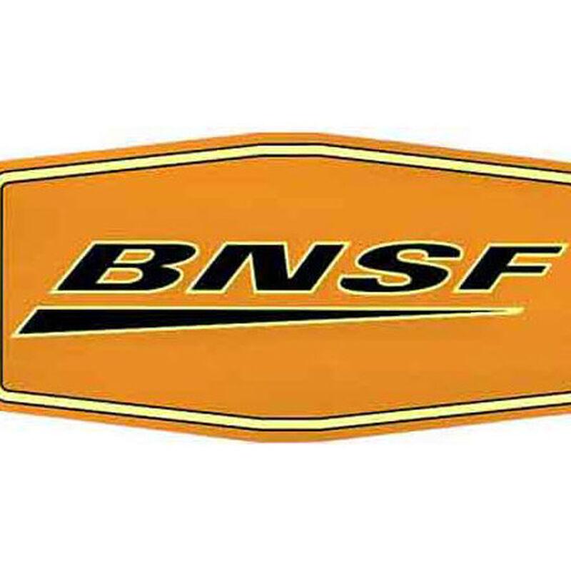 """10"""" Die-Cut Metal Sign, BNSF/Wedge"""