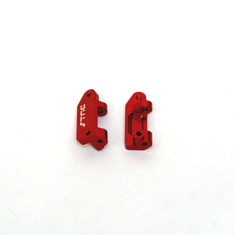 Aluminum Caster Blocks, Red: Stampede, Rustler, Slash