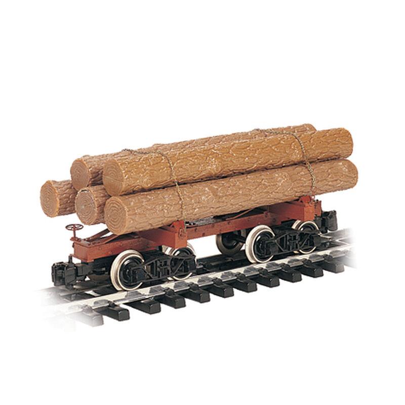 G Skeleton Log Car w/Logs, Brown