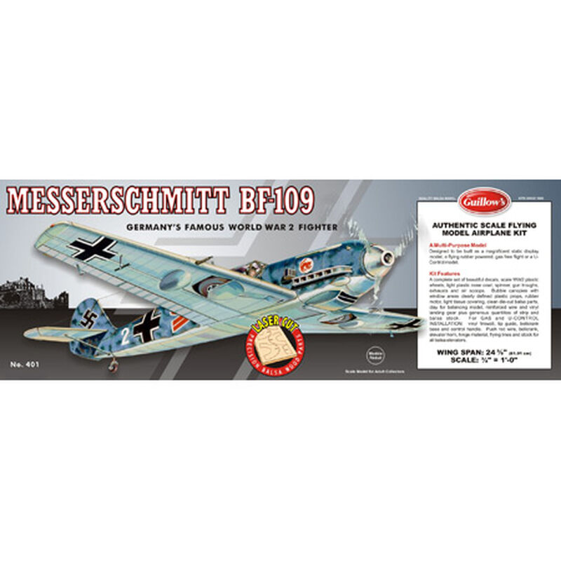 Messerschmitt BF-109 Laser Cut Kit, 24.5""