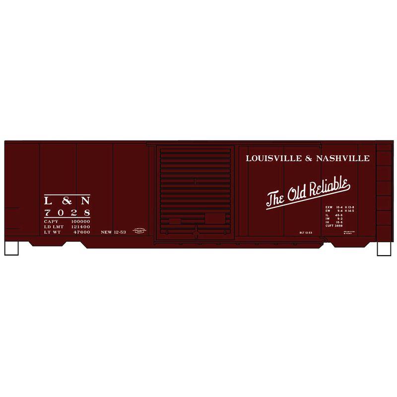 HO KIT PS-1 Steel Box L&N Mineral Red