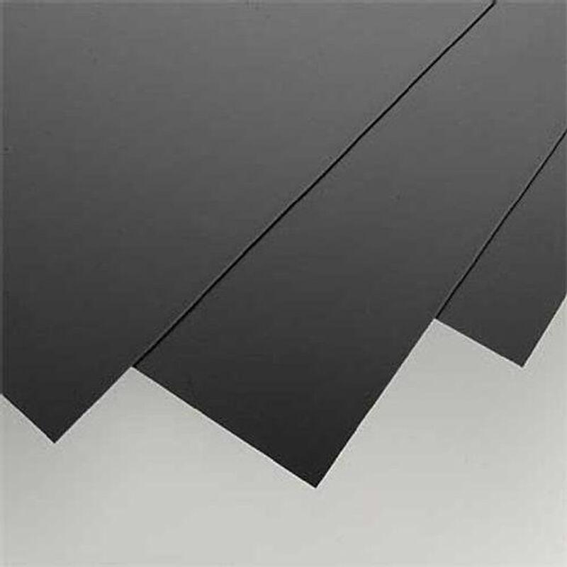 "Black Styrene Sheets, .04x8x21"" (3)"