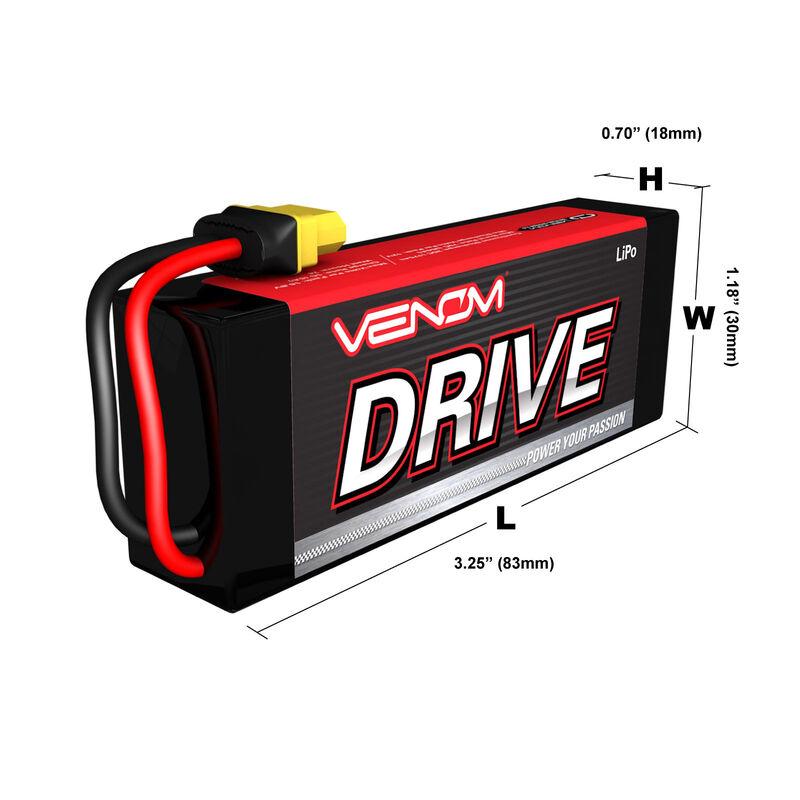7.4V 2000mAh 2S 20C DRIVE LiPo Battery: UNI 2.0 Plug