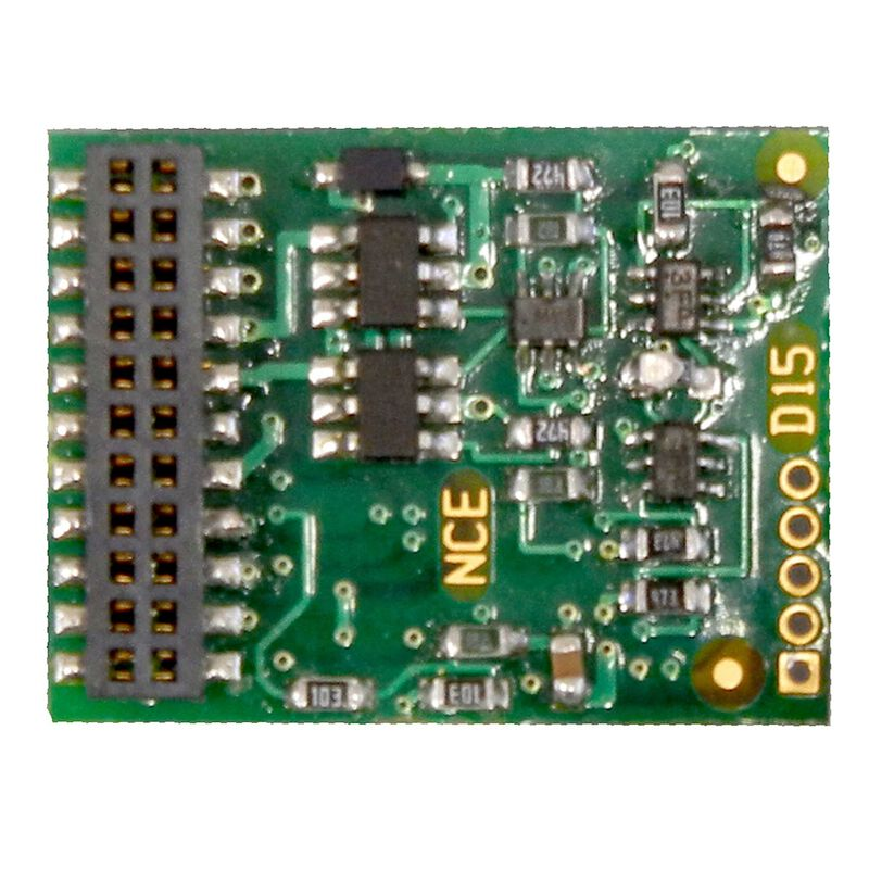HO Decoder D16 w 21 pin MTC plug 6-Function