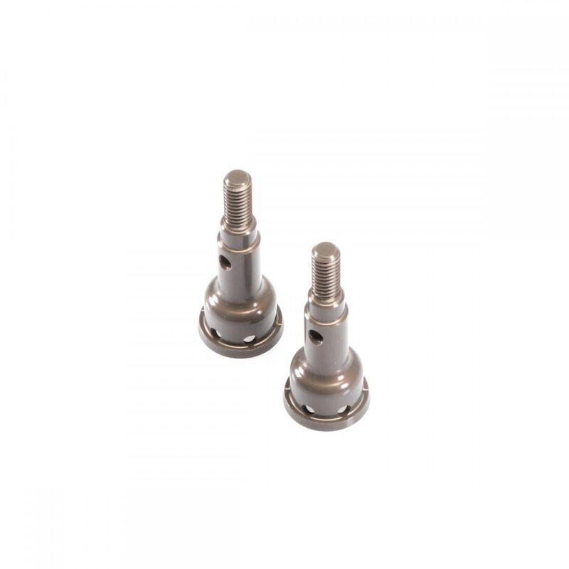 Stub Axles, Rear, 7075 Hard Anodized Aluminum (2): EB410