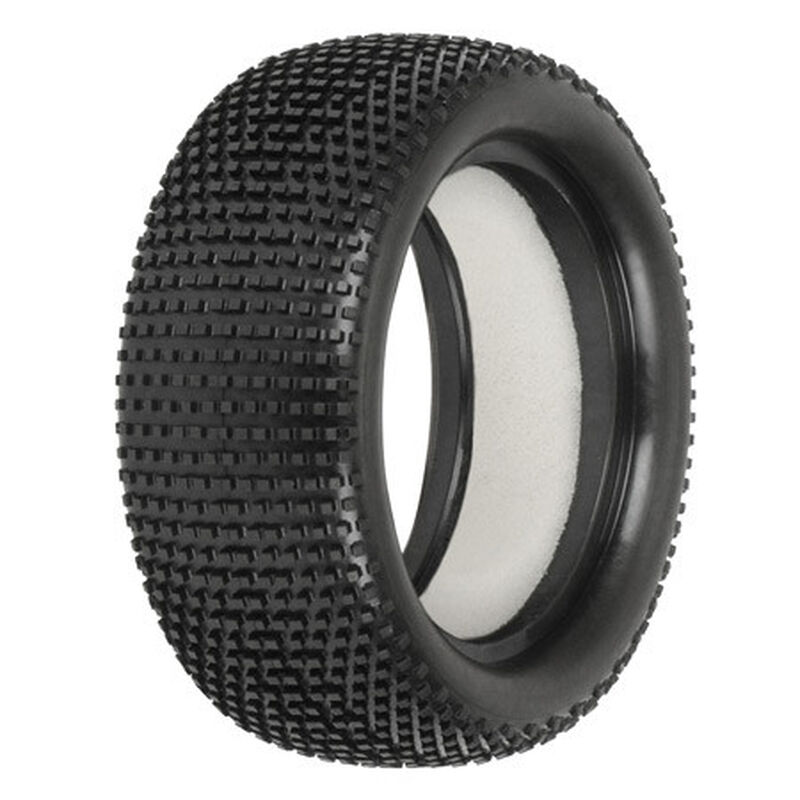 1/10 Front Hole Shot 2.0 2.2 4WD M3 Tires with Impact Firm Foam inserts: Off-Road Buggy (2)