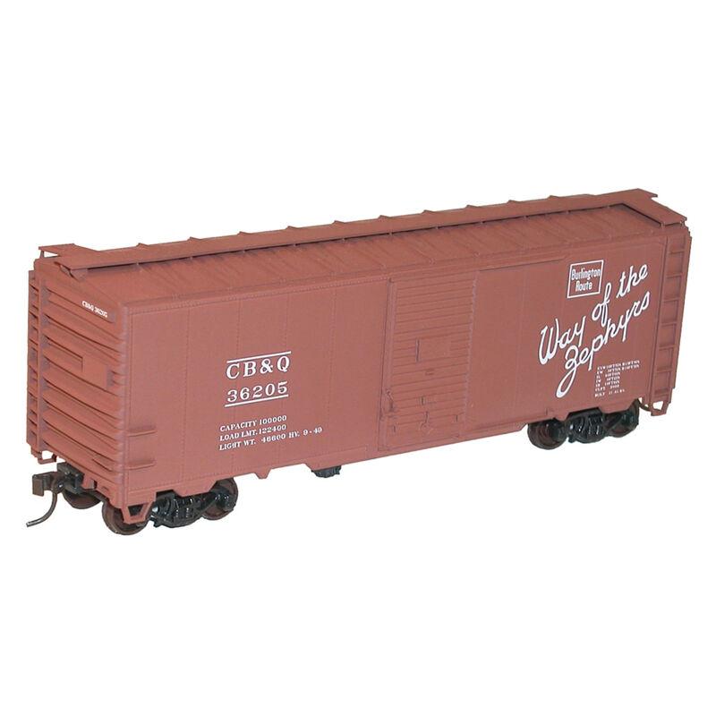 HO KIT 40' Single Door Steel Box, CB&Q