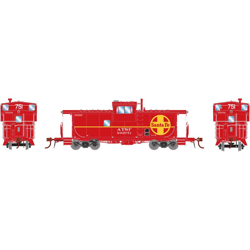 HO ICC Caboose with Lights ATSF #999751