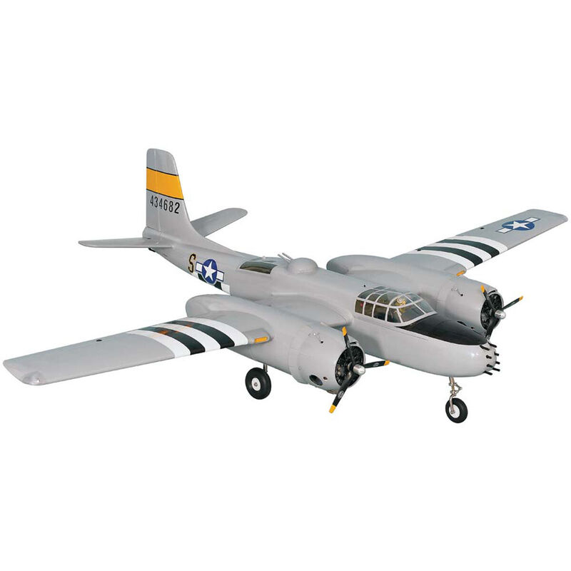 1:9 1/4 A-26 Invader Twin Electric/Gas ARF