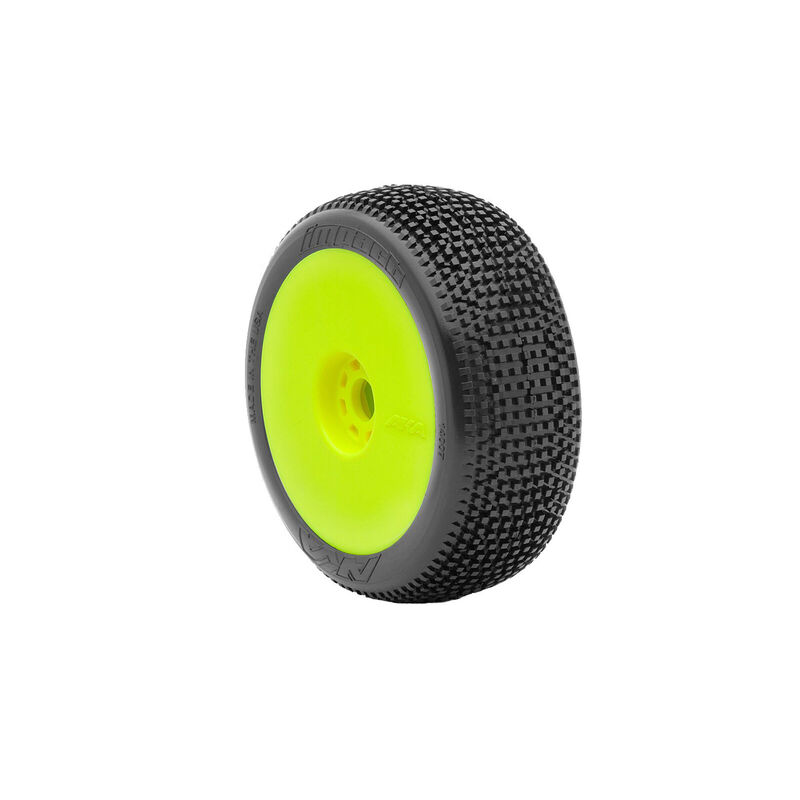 1/8 Impact EVO Medium Long Wear Front/Rear Wheel Mounted, Yellow: Buggy (2)