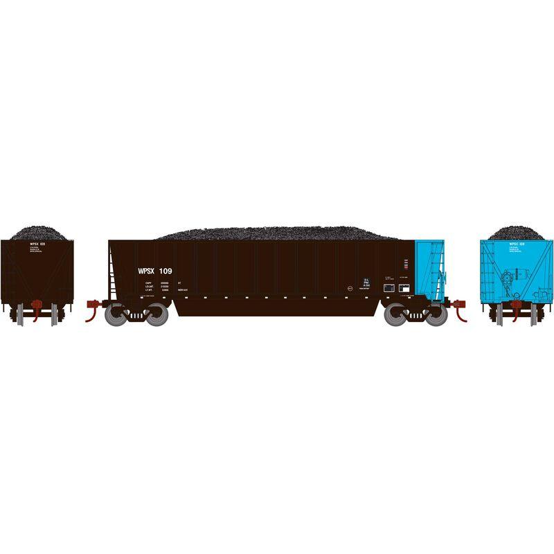 HO RTR Bathtub Gondola with Load WPSX #109