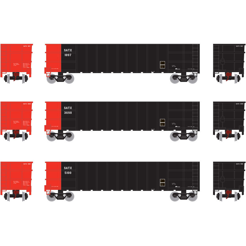 HO RTR Thrall High Side Gondola with Load SATX #1 (3)