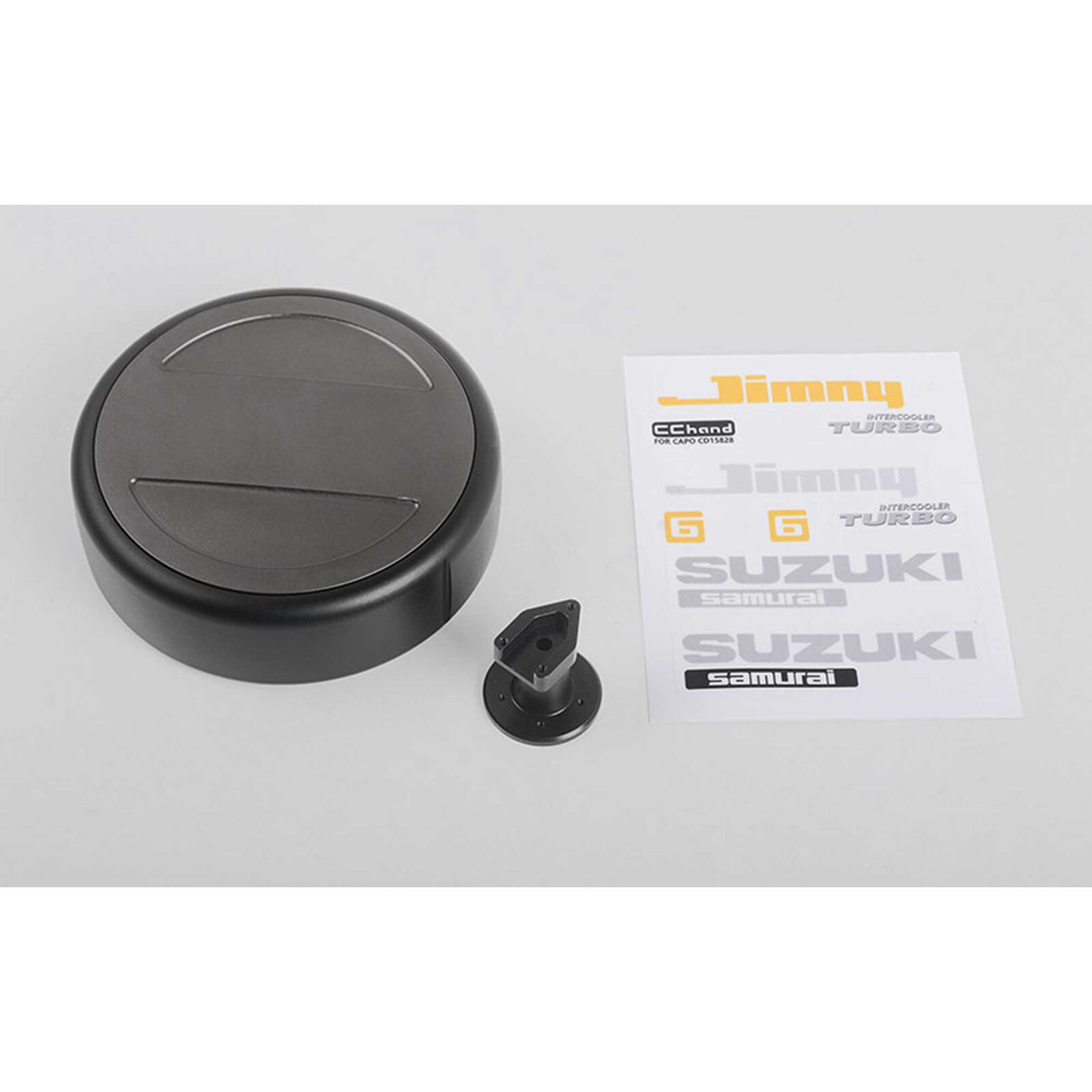 No-Fuss Spare Tire Cover & Holder: CRS 1/6 Crawler