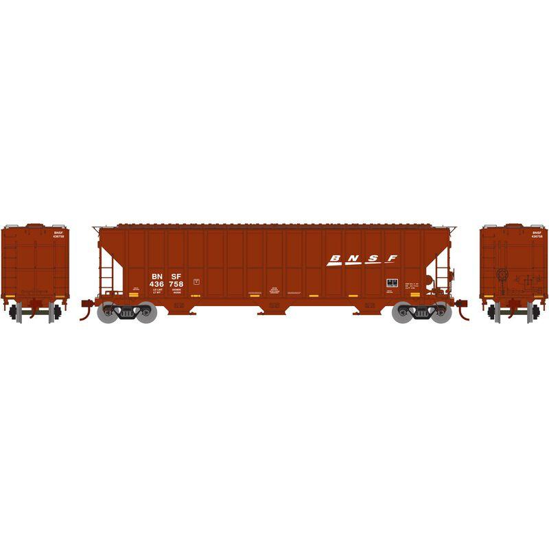 HO RTR FMC 4700 Covered Hopper, BNSF/Wedge #436758