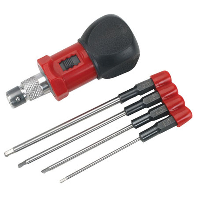 4-Piece Metric Hex Wrench Set with Handle