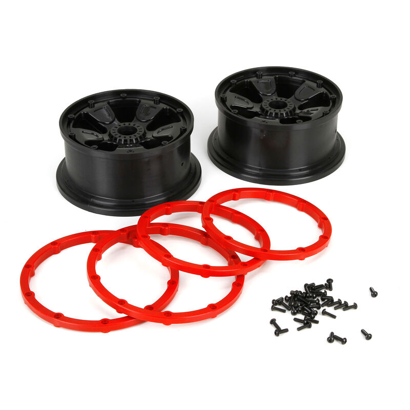 1/5 Front/Rear 4.75 Pre-Mounted Tires, 24mm Hex, Black (2): DB XL