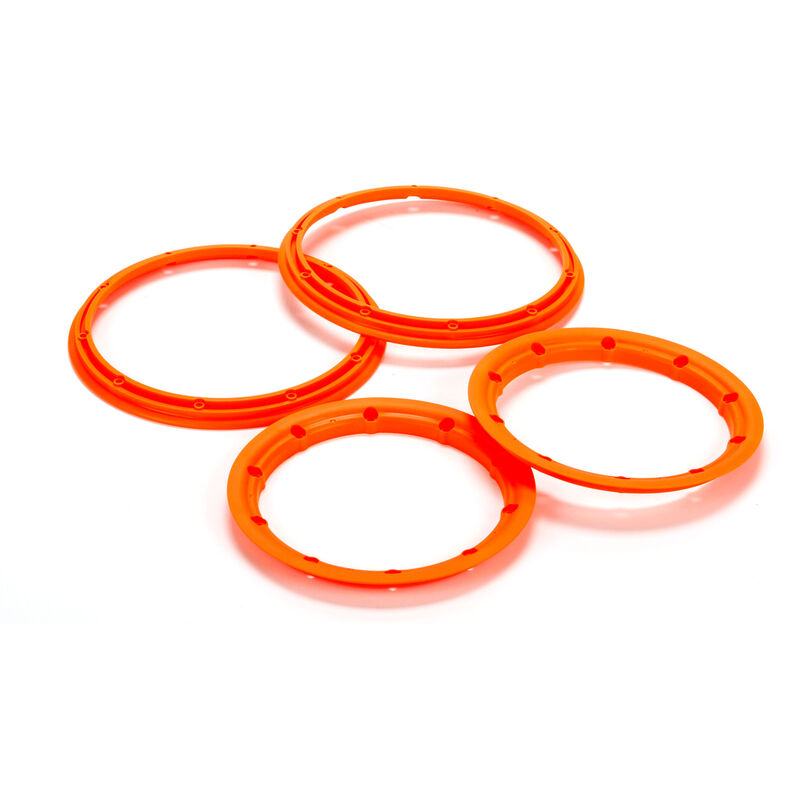 Beadlock Set, Inner & Outer, Fluorescent Orange(2): 5T