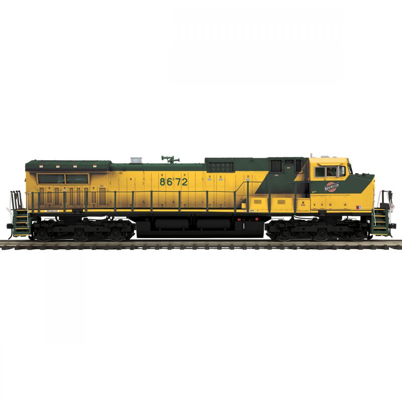 O Hi-Rail Dash-9 with PS3 C&NW #8672