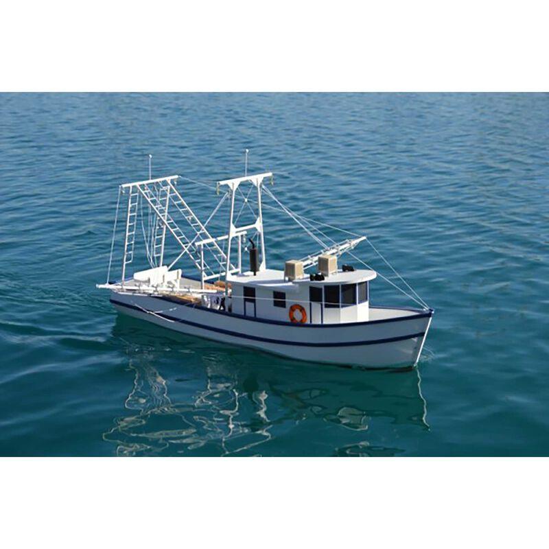 """1/24 Rusty Coastal Shrimp Boat Kit 36"""""""