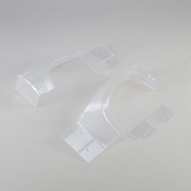 Left and Right Rear Fender Set, Clear: Super Baja Rey