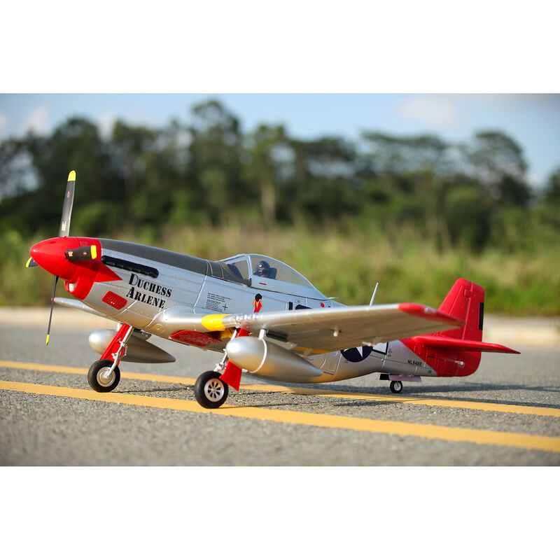 P-51D Red Tail V8 PNP, 1450mm