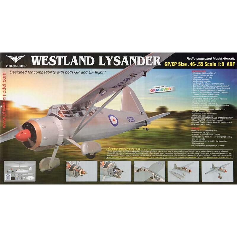 1/8 Westland Lysander .46-.55 GP EP ARF