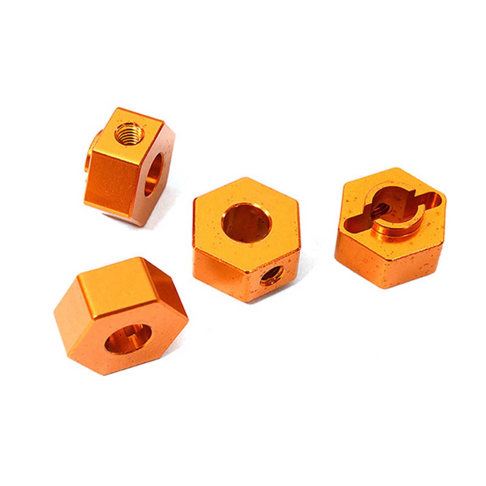 Wheel Hex, Orange (4): ARRMA 1/10 GRANITE Voltage