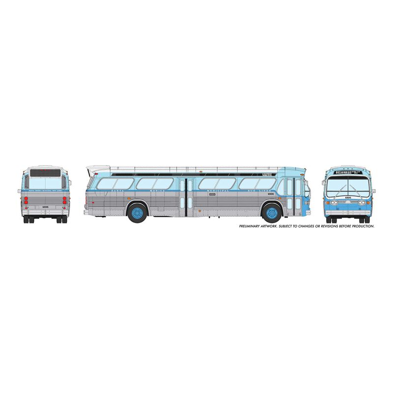 HO 1/87 New Look Bus Standard-Santa Monica #4924