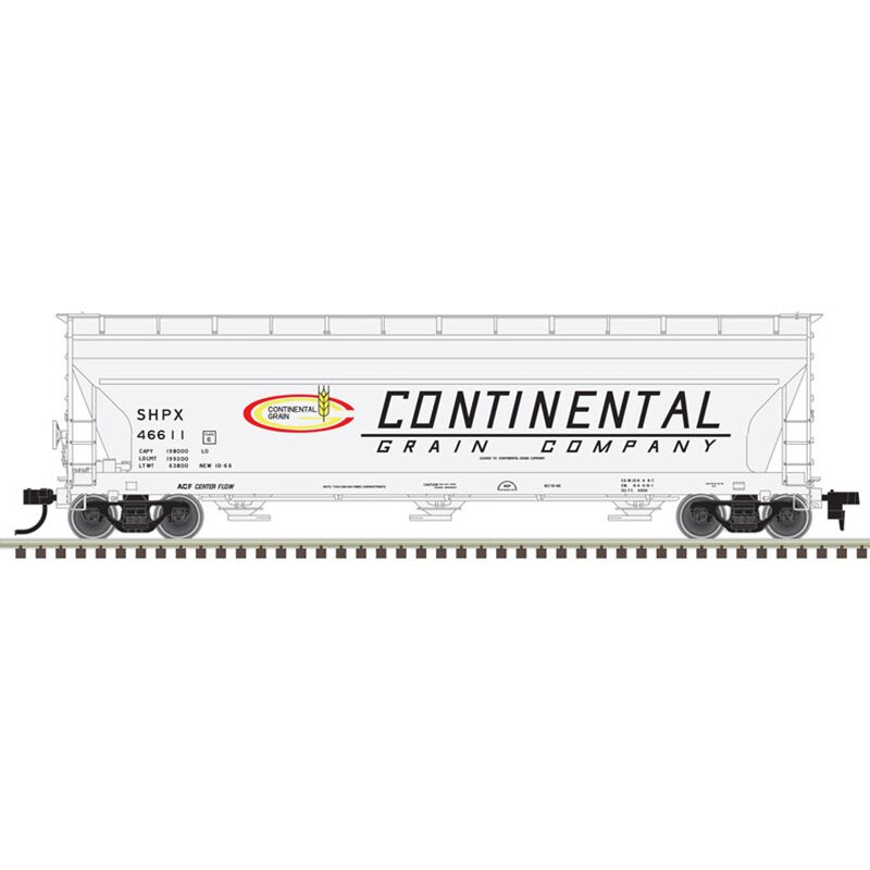 HO 4650 CoveredHopper SHPX Continental Grain#46633