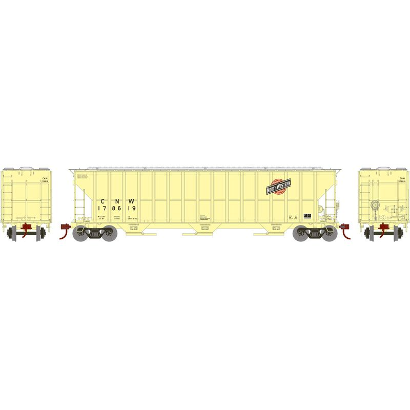 HO RTR FMC 4700 Covered Hopper, C&NW/Faded #178619