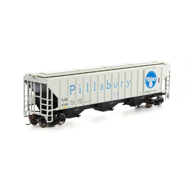 HO RTR PS 4740 Covered Hopper TLDX Pilsbury #6780