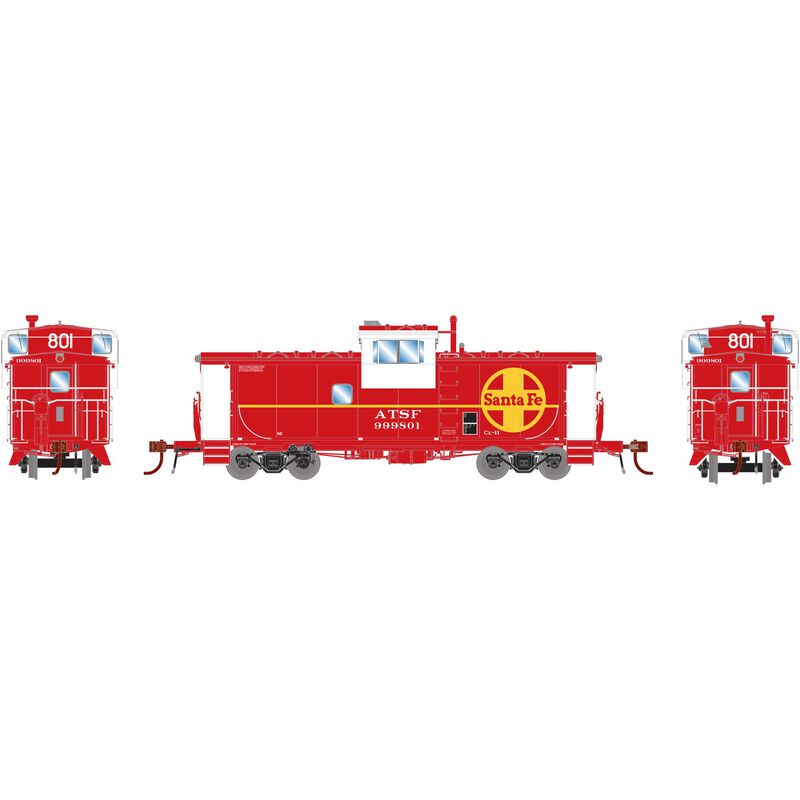 HO ICC Caboose with Lights ATSF #999801
