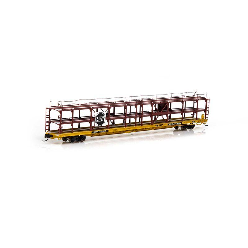 N F89-F Tri-Level Auto Rack N&W RTTX #913075