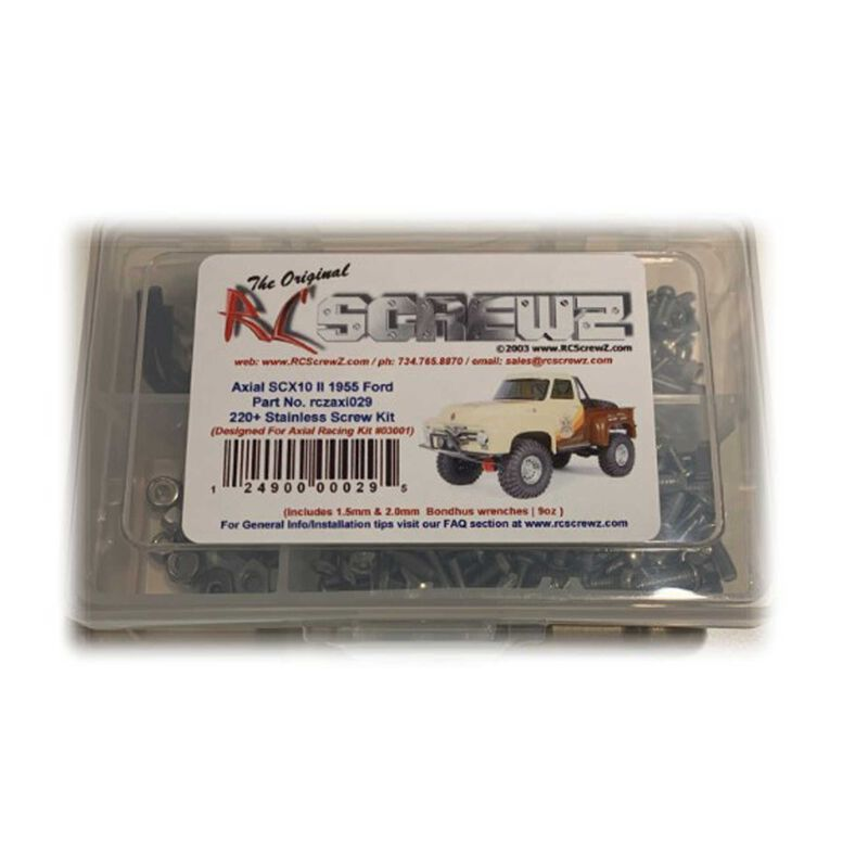 Stainless Steel Screw Kit: Axial SCX10 II '55 Ford