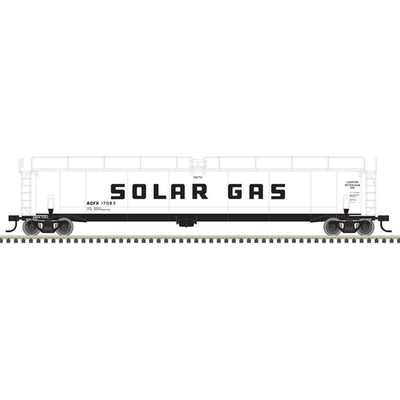 O Tank Car Solar Gas 17081 17083