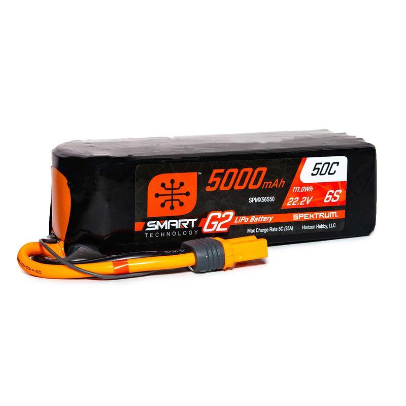 22.2V 5000mAh 6S 50C Smart G2 LiPo Battery: IC5