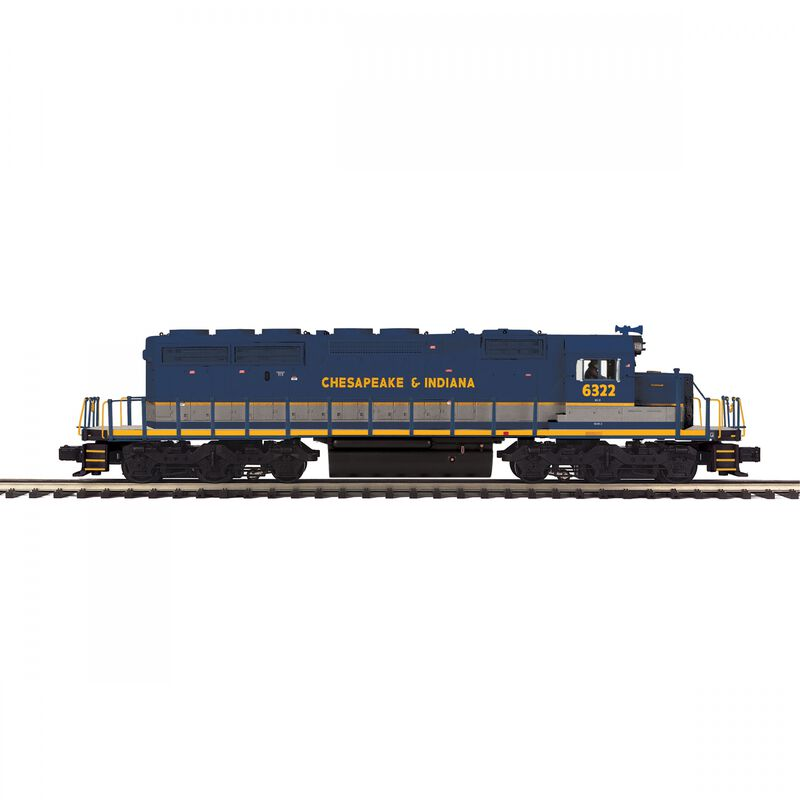 O-27 SD40-2 with PS3 Chesapeake & Indiana #6322